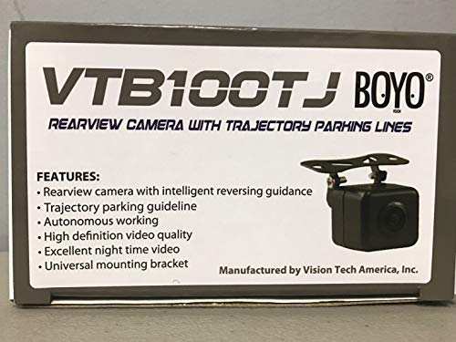 BOYO VTB100TJ Rear View Camera with Trajectory Parking Lines - Rear View Boyo Cameras