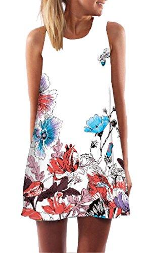 Women 10 Cozy Scoop Sleeveless Neck Cami Dresses Mini Oversize Coolred Evening 1Pwqdq