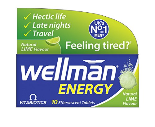 Vitabiotics Wellman Energy. 10 Effervescent tablets. Lime Flavor