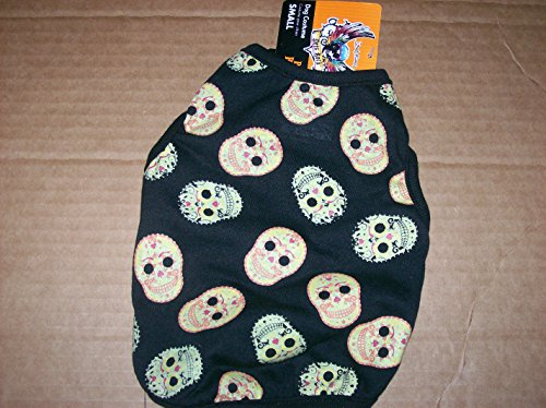 Bret Michaels Dog Costume (Bret Michaels Pets Rock Skull Tee Size Small Dog Halloween Costume)