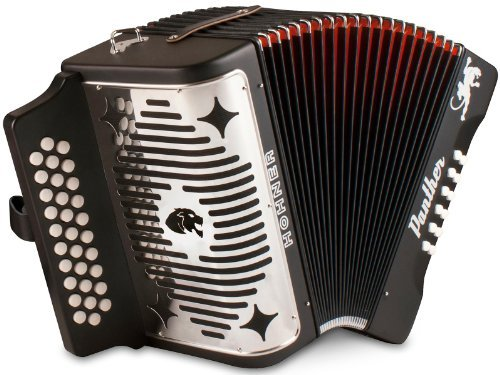 Hohner Panther F/B/E 3-Row Diatonic Accordion - Black by HOHNER