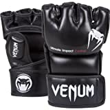 Venum 0123-M Impact MMA Gloves, Black, Medium