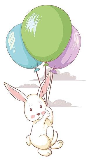 Wandtattoo Babyzimmer Tiere Wandsticker Fliegender Hase Mit Bunten