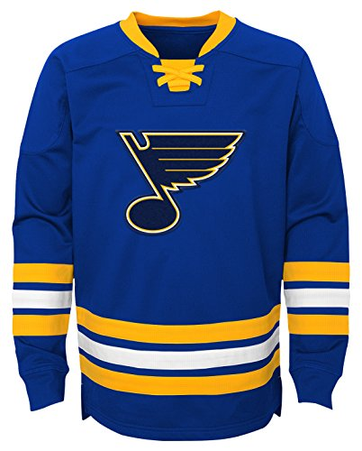 - Outerstuff NHL St. Louis Blues Youth Boys Classic Hockey Crew, Medium(10-12), Pro Royal