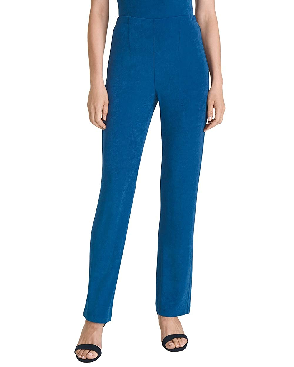 Vintage High Waisted Trousers, Sailor Pants, Jeans Chicos Womens Travelers Classic No Tummy Wrinkle Resistant Pull On Straight Leg Pants $49.99 AT vintagedancer.com