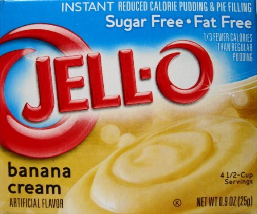 - Jell-O Banana Cream Sugar Free Pudding & Pie Filling (4-Pack)