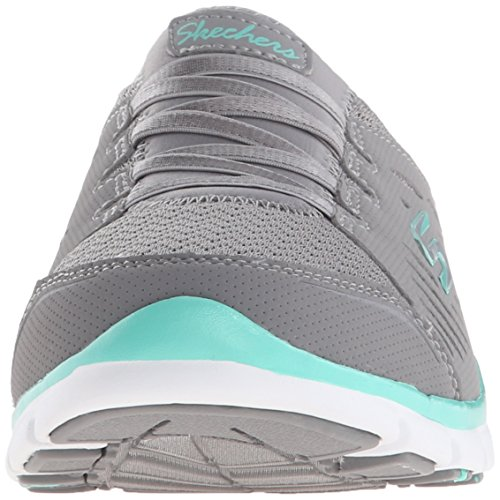 Skechers Sport Damen No Limits Slip-On Mule Sneaker Graue Minze