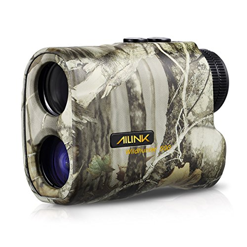 Hunting Rangefinder 6x Laser Monocular 540 Yards Range and Speed Scan, Yard/Meter Unit Shift, Eye-safe, Built-in LCD, Two Button Easy Operation for Hunting Archery Bow, AILINK Wild Hunter 500 Upgraded by Ailink