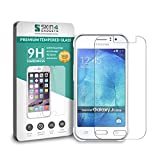 Samsung Galaxy J1 Ace Tempered Glass Screen Guard Protector Ultra Strong (9H)-Slim by Skin4Gadgets with Gift Card of Rs.200.