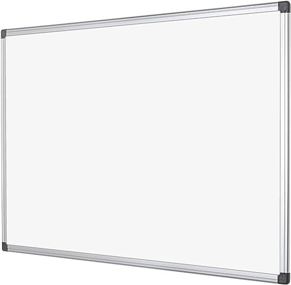 Viz-pro pizarra blanca magn/ética de borrado en seco marco de aluminio plateado W1200/x H900/mm