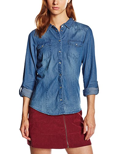 Longues Normale Chemisier Bleu Denim 15109179 Only Femme Dark Blue Manches Taille wXftWOq