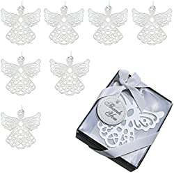 Pack of 8 Fashioncraft Angel Bookmark Favors,Wedding Favors and Gifts by Amersumer