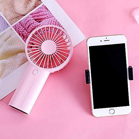 jujingyi officeproductsDHaws 2019 New Portable Handheld Mini Fan Creative Mobile Phone Holder Desktop Mini Fan USB Charging Handheld Small Fan