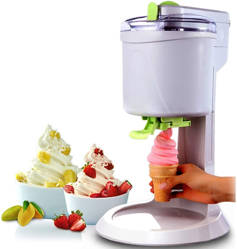 Gpzj Automatic Household Ice Cream Machine, 1L High Capacity DIY Ice Cream Maker, Fast, Easy Clean Smooth, Suitable for Making A Variety of Ice Cream