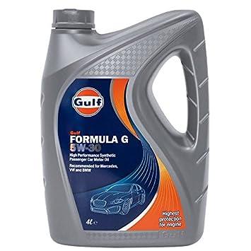 Gulf - Aceite de motor totalmente sintético Formula FS 5W30: Amazon.es: Coche y moto