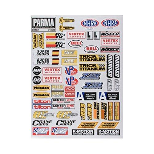 Parma 10626 Decal Sheet Medium Drag Racing I