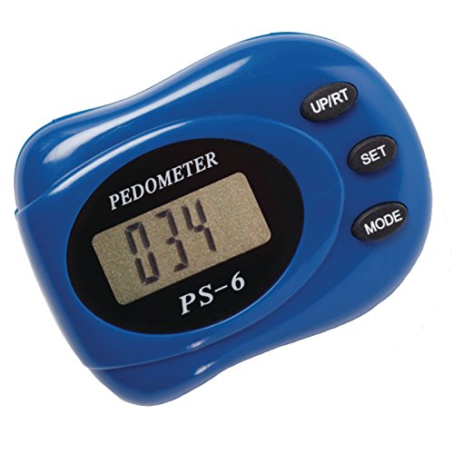 Sammons Preston Pedometer with Clip, Step and Calorie Counter, Record Time, Tracker for Running, Walking Distance, Jogging, Health/Fitness and Diet Tracker for Athlete and Everyday Use