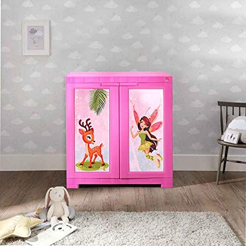 Cello Novelty Compact Fairy Kids Plastic Cupboard Pink