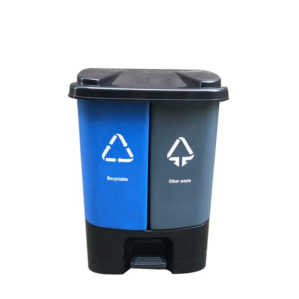 LIRIDP 屋外の分類ゴミ箱ペタル型ごみ分離ビンの大規模なオフィスの廃紙バスケット20L30L40L50L80L (サイズ さいず : D) B07MSLT4YT  D