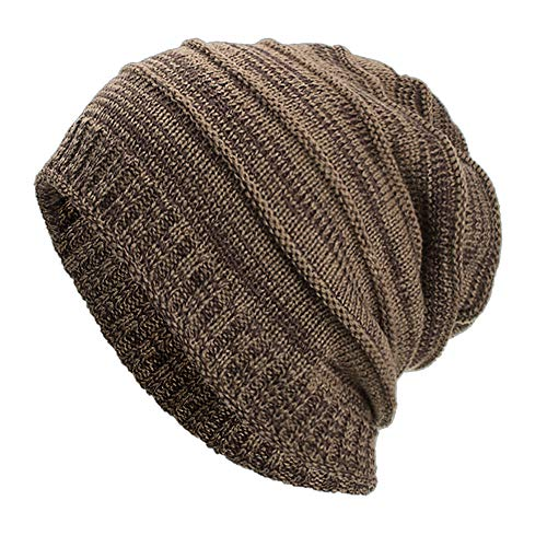 GOVOW Caps for Women Men Eliminate Cancer Warm Baggy Weave Crochet Winter Wool Knit Ski Beanie