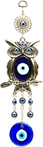 COTO Turkish Blue Evil Eye Owl Wall Hanging Ornament Amulet Wall Hanging Home Protection Decoration Blessing Housewarming Birthday Gift