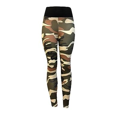 eb3dbf1b1c58ca Camouflage Skinny Yoga Pants, Women's Ultra Soft Leggings Power Flex Workout  Running Leggings Pants by