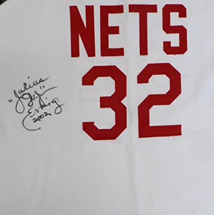 8b2f93c83 Image Unavailable. Image not available for. Color  New Jersey Nets  Julius quot Dr. J quot  Erving Autographed White Mitchell   Ness Hardwood