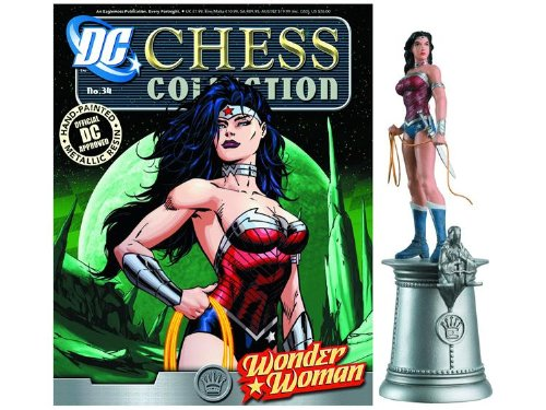 DC Chess Justice League Collector Figure & Magazine Wonder Woman White Queen by Eaglemoss