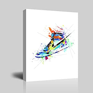 Gym Shoes Canvas Art Sports Themed Wall Art For Boys Room Wall Decor ,Gift for Boys, Son,Grandson, Nephew. 12