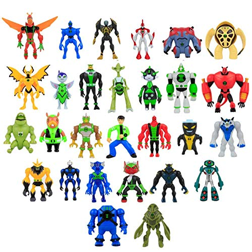 28Pcs/Set Cartoon Ben 10 Toys Ben Tennyson with Light PVC Ben10 Alien Action Figure Collectible Model Toys 10-14CM -