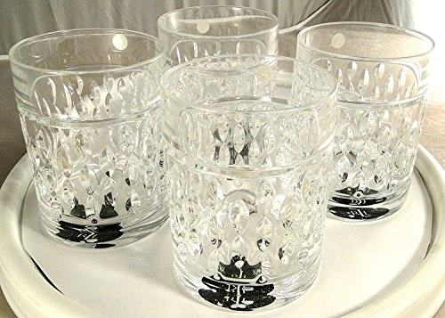 (Ralph Lauren Aston Double Old Fashioned Cocktail Glasses German Lead Crystal Set of 4)