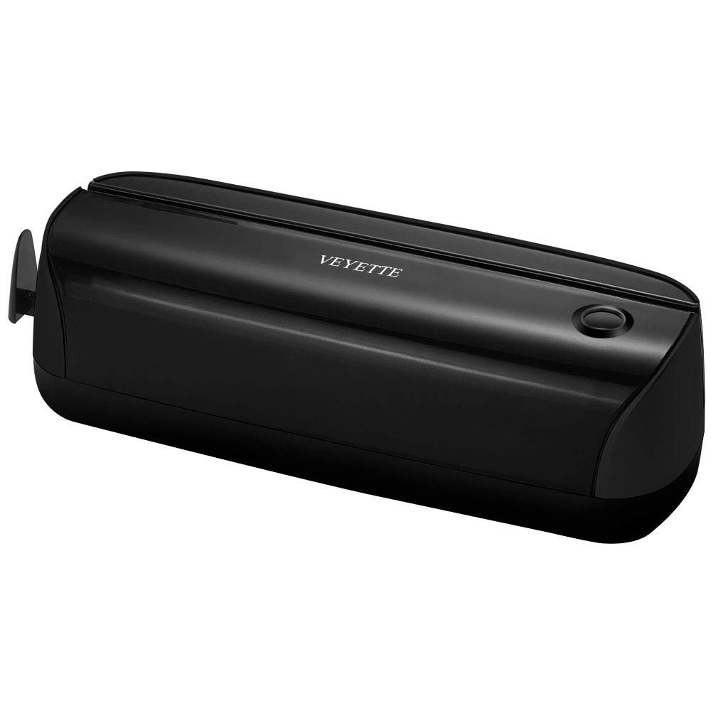 Paper Punch, VEYETTE 3 Hole Electric Puncher with Adapter for Office School Studio, 15 Sheet Capacity, AC or Battery Black