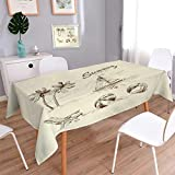 Best Tommy Bahama Beach Boats - Anmaseven Beach Oblong Printed Tablecloth Monochrome Tropical Elements Review