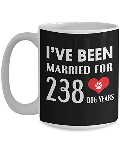 34th Wedding Anniversary Gifts For Dog Lover - Black - 34 Years Wedding Marriage Gift -