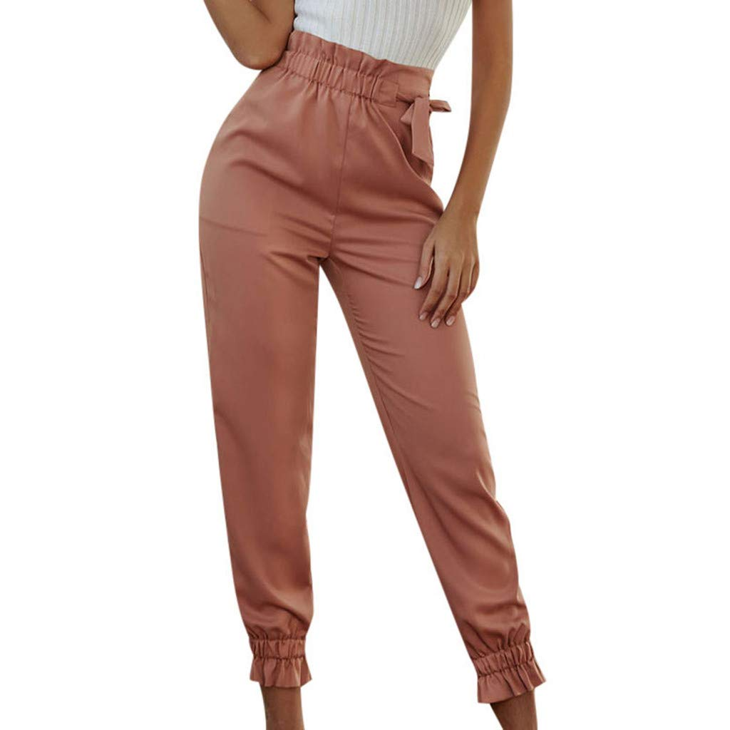 Women Trouser Regular Fit Women Casual Bow Mid Pencil Pants Soild Ankle Length Trousers Ladies Loose Pants For Formal Casual Wear Pink Xl Amazon In Sports Fitness Outdoors Find your new favourite outfit with the dickies uvalda women's denim dungarees featuring a cropped, wide leg, hammer and loop, plus ruler pocket for the ultimate in bib chic. women trouser regular fit women casual