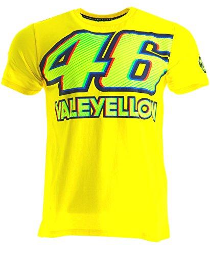 Valentino Rossi VR46 Moto GP 46 Logo Yellow T-shirt Official 2017