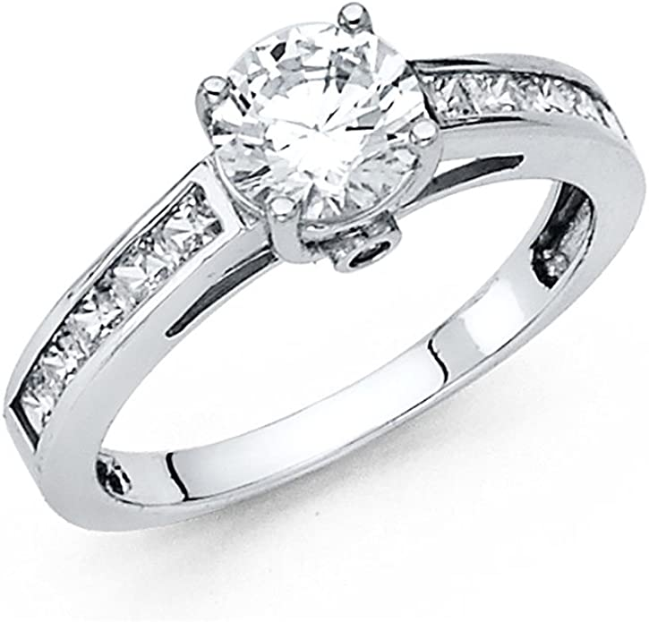 925 Sterling Silver Pleasing Round Shape 2.20 Carat Solitaire Anniversary Ring