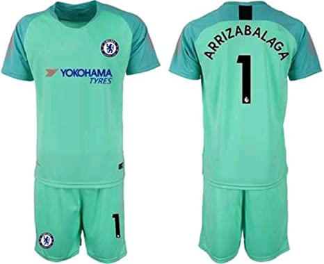 newest 065bc e1d5b Amazon.com : ZZXYSY Kepa Arrizabalaga #1 Chelsea Men's ...