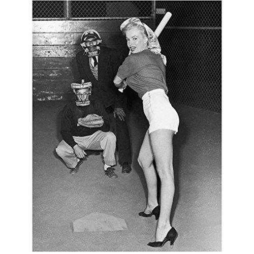 Marilyn Monroe Ready to Swing Playing Baseball in Heels 8 x 10 Inch Photo