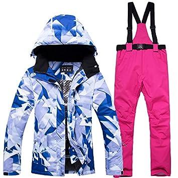 Zjsjacket Traje de Esqui Traje de esquí de Nieve para Mujer Impermeable a Prueba de Viento