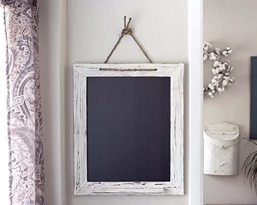 White Shabby Chic Chalk Marker Board 20x24 by A Latte Decor