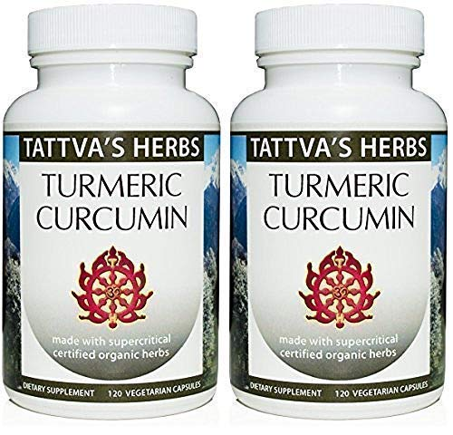 Turmeric Curcumin with Black Pepper for Advanced Absorption Reduce Inflammation Joint Pain Arthritis – Anti Aging Organic Supplement 500 mg. 240 Vcaps 2 Month Supply from Tattva s Herbs