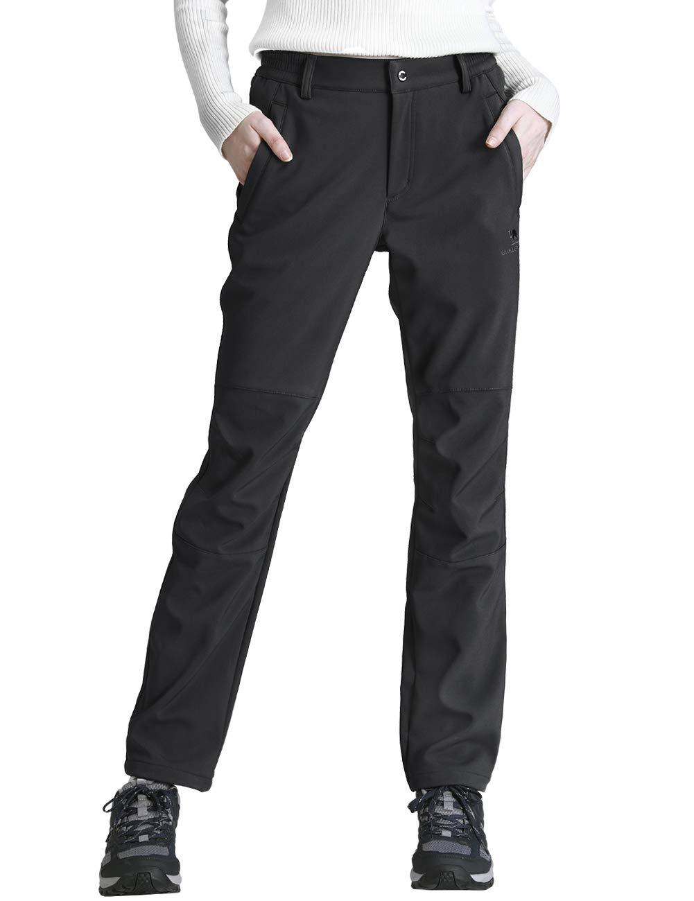 fd7ca0d7728f0 WHG CAMEL CROWN Women's Softshell Fleece Pants for Outdoor Hunting Hiking  Skiing Waterproof Windproof Trousers