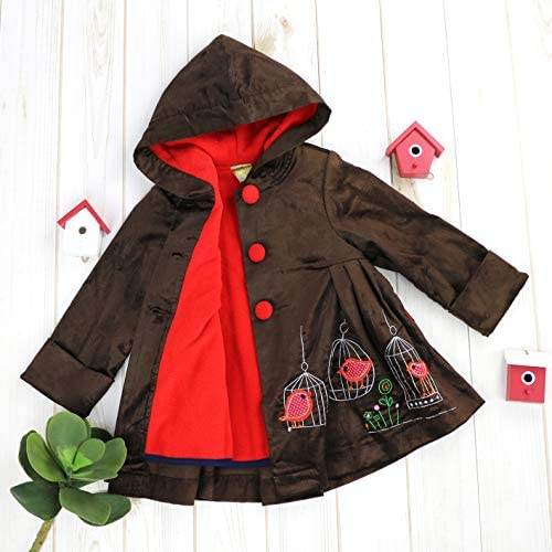 Maria Elena Bundled Up Baby Penguin Corduroy Jacket 2-7//8 Toddlers and Girls