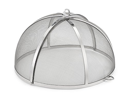 Good Directions 25″ Stainless Steel Spark Screen for Fire Pit and Paver Pit, Hinged, Heavy Duty, Easy Access For Sale