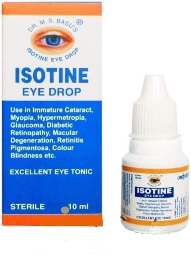 Amazon.com: Isotine Eye Drops 10 Mililitre Ayurvedic Eye Drops Eye Care:  Health & Personal Care
