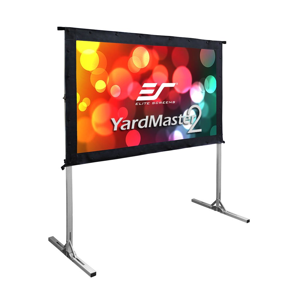Elite Screens, Yard Master 2 Mini Series, 55-INCH 16:9, 4K / 8K Ultra HD Active 3D HDR Ready Indoor / Outdoor / Home Movie Theater / Projector Screen, REAR Projection, OMS55HR2.