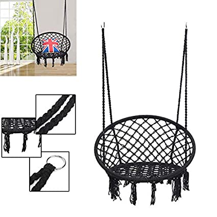 Tradico Round Hammock Adult Outdoor Indoor Dormitory Bedroom Swing Bed Hanging Single Chair with Tools Set
