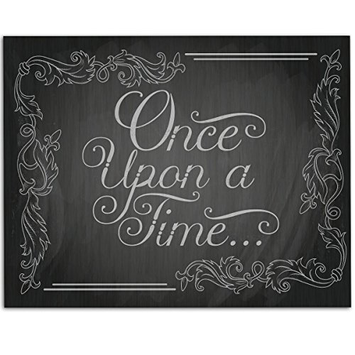Once Upon A Time - Chalkboard Style - 11x14 Unframed Art Print - Great Home/Living Room Decor/Wedding Gift, Also Makes a Great Gift Under $15 (Printed on Paper, Not Chalkboard) (The Black Fairy Once Upon A Time)