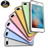 iphone color case - iPhone 7 Plus Case, iPhone 8 Plus Case, Bekhic Apple iPhone 7/8 Plus Crystal Clear Shock Absorption Technology Bumper Soft TPU Cover Case for iPhone 7 Plus (2016)/iPhone 8 Plus (2017) (7 Colors Set)